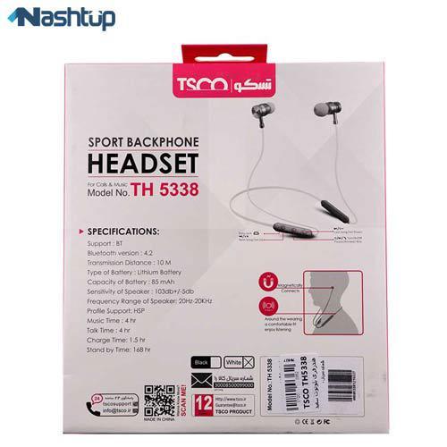 هدست بلوتوث گردنی تسکو مدل TH 5338