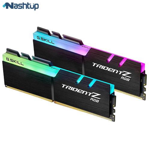 رم کامپیوتر جی اسکیل مدل TridentZ RGB DDR4 3000MHz CL16 Dual Channel ظرفیت 32 گیگابایت