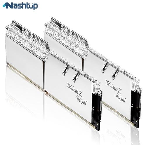 رم کامپیوتر جی اسکیل مدل Trident Z Royal RS DDR4 3200MHz CL16 Dual Channel ظرفیت 32 گیگابایت