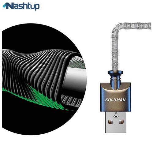 کابل تبدیل USB به MicroUSB کلومن مدل KD-21 طول 1 متر