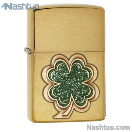فندک زیپو مدل Four Leaf Clover - Shamrock برند Zippo کد 28806