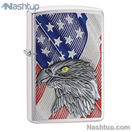 فندک زیپو مدل USA Flag Eagle Emble برند Zippo کد 29508