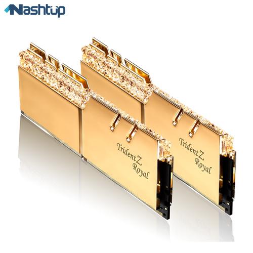 رم کامپیوتر جی اسکیل مدل Trident Z Royal RG DDR4 3200MHz CL16 Dual Channel ظرفیت 16 گیگابایت
