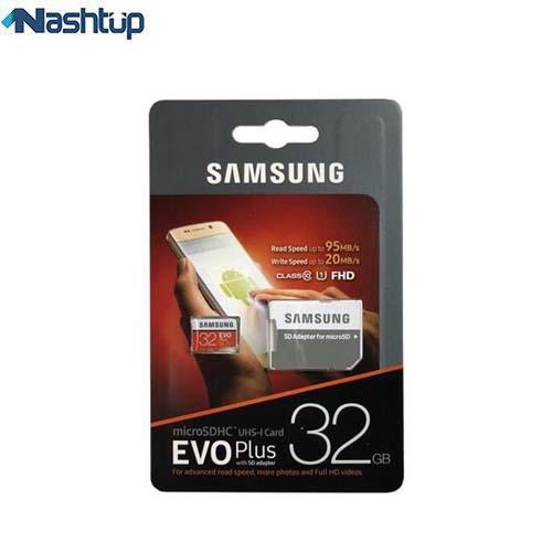 کارت حافظه سامسونگ مدل Evo plus همراه با آداپتور SD و ظرفیت 32 گیگابایتی