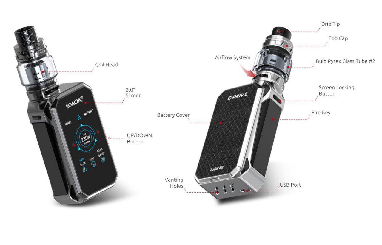 دستگاه ویپ SMOK مدل G Priv 2 Luxe